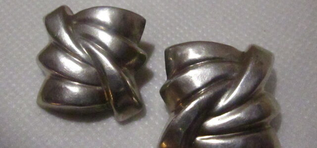 Silberne Ohrclips